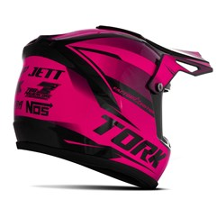 Mini Capacete Pro Tork Cross Factory Edition Enfeite Rosa