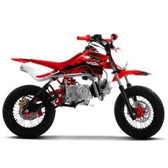 Mini Moto Supermotard Pro Tork TR 125F Aro 12x12 Vermelho
