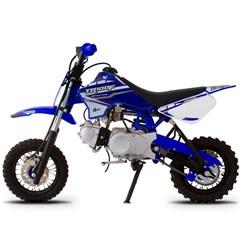 Mini Moto TR-100 Off-Road 100 CC Aro 10/10 Azul