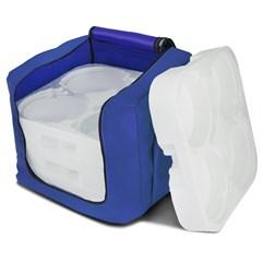 Mochila Térmica Para Entrega Marmita (16 Un.) Azul