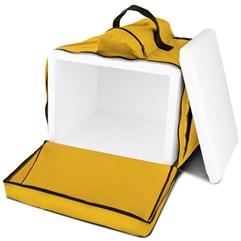 Mochila Térmica Para Entregas Motoboy Pizza e Lanches 45 Litros Pro Tork Amarelo