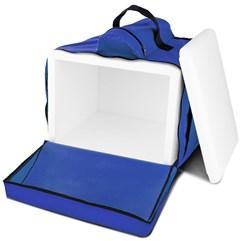 Mochila Térmica Para Entregas Motoboy Pizza e Lanches 45 Litros Pro Tork Azul