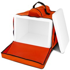 Mochila Térmica Para Entregas Motoboy Pizza e Lanches 45 Litros Pro Tork Laranja
