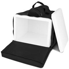 Mochila Térmica Para Entregas Motoboy Pizza e Lanches 45 Litros Pro Tork Preto