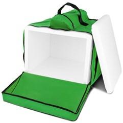 Mochila Térmica Para Entregas Motoboy Pizza e Lanches 45 Litros Pro Tork Verde