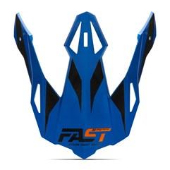 Pala Capacete Pro Tork Fast 788 Azul - Laranja
