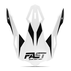 Pala Capacete Pro Tork Fast 788 Branco - Cinza