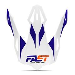 Pala Capacete Pro Tork Fast 788 Branco - Laranja