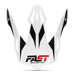 Pala Capacete Pro Tork Fast 788 Branco - Vermelho