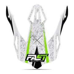 Pala Capacete Pro Tork Fast 788 Skull Verde