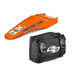 Paralama Traseiro MX2 Laranja + Bag de Ferramenta Pro Tork