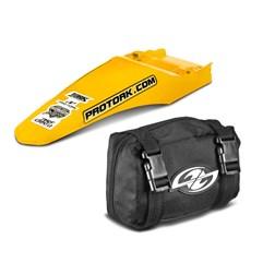 Paralama Traseiro Universal MX2 Amarelo + Bag De Ferramenta Pro Tork