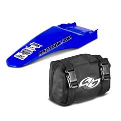 Paralama Traseiro Universal MX2 Azul + Bag De Ferramenta Pro Tork