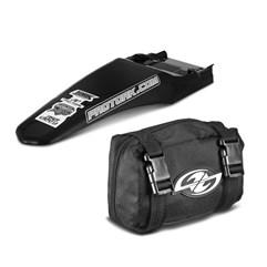 Paralama Traseiro Universal MX2 Preto + Bag De Ferramenta Pro Tork