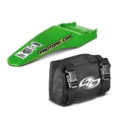 Paralama Traseiro Universal MX2 Verde + Bag De Ferramenta Pro Tork