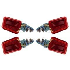 Pisca Esportivo Mini Preto Universal 4 Unidades Pro Tork