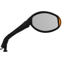 Retrovisor Esportivo C/ Pisca Universal Amarelo Lados