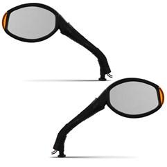 Retrovisor Esportivo C/ Pisca Universal Amarelo ( Par )