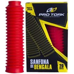 Sanfona de Bengala Pro Tork 20 Dentes DT 180 XLR 125 XTZ 125 NXR Bros 125/150 Vermelho